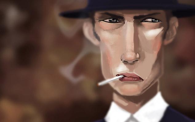 pleindetrucs.fr, plein de trucs, personnage des années 1920, borsalino, cigarette, final