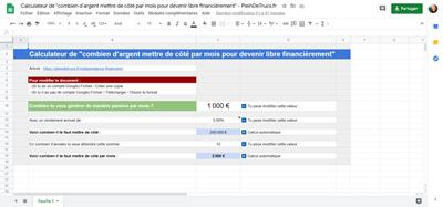 Combien mettre de côté - Calculateur de PleinDeTrucs.fr